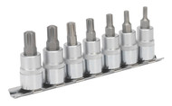 "Sealey AK6232 Ribe Socket Bit Set 7pc 3/8""Sq Drive 50mm"
