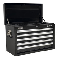 Sealey AP33059B Topchest 5 Drawer with Ball Bearing Runners - Black