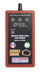 Sealey VS8623 Service Reset Tool with Oil Degradation Function - Fiat