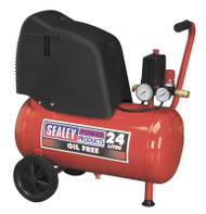Sealey SAC02415 Compressor 24ltr Belt Drive 1.5hp Oil Free