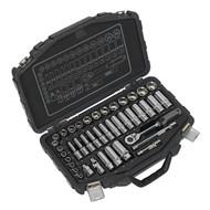 """Sealey AK8952 Socket Set 41pc 3/8""""Sq Drive 6pt WallDriveÌ´åMetric"""