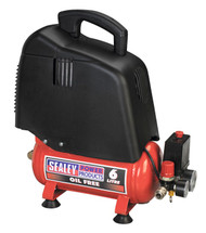 Sealey SAC00615 Compressor 6ltr Belt Drive 1.5hp Oil Free