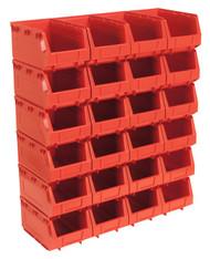 Sealey TPS324R Plastic Storage Bin 148 x 240 x 128mm - Red Pack of 24