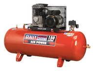 Sealey SAC0152B Compressor 150ltr Belt Drive 2hp with Cast Cylinders