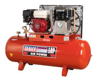 Sealey SA1565 Compressor 150ltr Belt Drive Petrol Engine 6.5hp