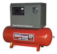 Sealey SAC42755BLN Compressor 270ltr Belt Drive 5.5hp 3ph 2-Stage with Cast Cylinders Low Noise