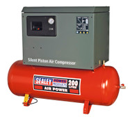 Sealey SAC2203BLN Compressor 200ltr Belt Drive 3hp with Cast Cylinders Low Noise