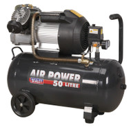 Sealey SAC5030VE Compressor 50ltr V-Twin Direct Drive 3hp