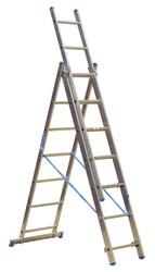Sealey ACL307 Aluminium Extension Combination Ladder 3x7 EN 131