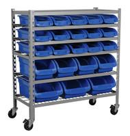 Sealey TPS22 Mobile Bin Storage System 22 Bins