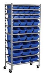 Sealey TPS36 Mobile Bin Storage System 36 Bins