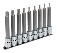 "Sealey AK6223 TRX-P Socket Bit Set 9pc 3/8""Sq Drive 100mm"