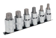 "Sealey AK6224 TRX-P Socket Bit Set 6pc 1/2""Sq Drive 55mm"