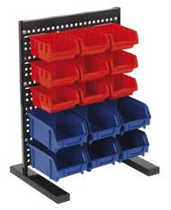 Sealey TPS1569 Bin Storage System Bench Mounting 15 Bin