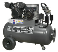 Sealey SAC3103B Compressor 100ltr Belt Drive 3hp with Front Control Panel