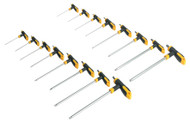 Siegen S0916 T-Handle TRX-Star & Hex Key Set 16pc