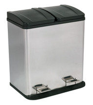 Sealey BM73 Pedal Bin Recycling 40ltr Stainless Steel