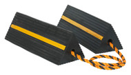 Sealey WC11 Heavy-Duty Rubber Wheel Chocks 8kg - Pair