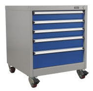 Sealey API5657B Mobile Industrial Cabinet 5 Drawer
