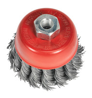 Sealey TKCB652 Twist Knot Wire Cup Brush åø65mm M10 x 1.25mm