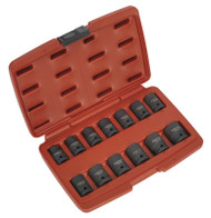 "Sealey AK5613TD Impact Socket Set 13pc 1/2""Sq Drive Total Driveå¬"