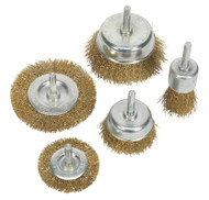 Sealey BWBS05 Wire Brush Set 5pc Brassed