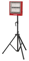 Sealey CH2800S Ceramic Heater with Telescopic Tripod Stand 1.4/2.8kW 230V
