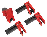Sealey VS0556 Fuel/Brake Pipe Clamp Set 4pc