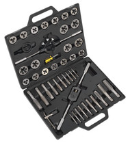 Sealey AK303IMP Tap & Die Set 45pc Split Dies Imperial