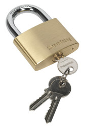 Sealey PL103 Brass Body Padlock 60mm