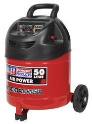 Sealey SAC03250 Compressor 50ltr Belt Drive 1.5hp Oil Free