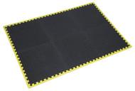 Sealey MIC1218Y3 Interlocking Comfort Workshop Mat Set 1240 x 1825mm with Hi-Vis Edges
