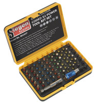 Siegen S01037 Power Tool Bit Set 62pc Colour-Coded S2