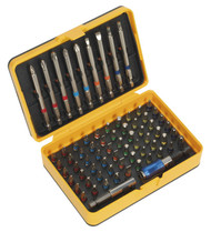 Siegen S01038 Power Tool Bit Set 71pc Colour-Coded S2