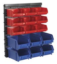 Sealey TPS1569WM Bin Storage System Wall Mounting 15 Bins