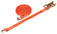 Sealey TD1506J Ratchet Tie Down 25mm x 6mtr Polyester Webbing 1500kg Load Test