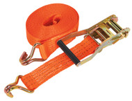 Sealey TD3008J Ratchet Tie Down 50mm x 8mtr Polyester Webbing 3000kg Load Test