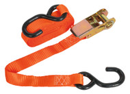 Sealey TD0845S Ratchet Tie Down 25mm x 4.5mtr Polyester Webbing with S Hook 800kg Load Test