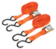 Sealey TD2550CS Cam Buckle Tie Down 25mm x 5mtr Polyester Webbing with S Hooks 250kg Load Test