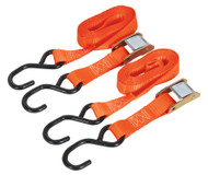 Sealey TD05025CS Cam Buckle Tie Down 25mm x 2.5mtr Polyester Webbing with S Hooks 500kg Load Test