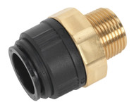 """Sealey CAS28BSA Straight Adaptor 28mm x 1""""BSPT Brass"""