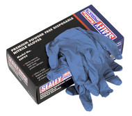 Sealey SSP55S Premium Powder Free Disposable Nitrile Gloves Small Pack of 100