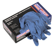 Sealey SSP55L Premium Powder Free Disposable Nitrile Gloves Large Pack of 100