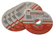 Sealey PTC/115CET5 Cutting Disc åø115 x 1.2mm 22mm Bore Pack of 5