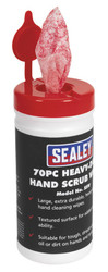 Sealey SSW Hand Scrub Wipes Heavy-Duty Pack of 70