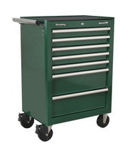 Sealey AP26479TBRG Rollcab 7 Drawer with Ball Bearing Runners - Green