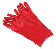 Sealey SSP32D PVC Chemical Handling Gauntlets 355mm Cuffed Pack of 12 Pairs