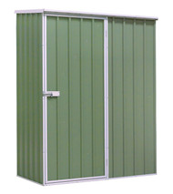 Sealey GSS1508G Galvanized Steel Shed Green 1.5 x 0.8 x 1.9mtr