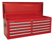 Sealey AP5210T Topchest 10 Drawer with Ball Bearing Runners - Red
