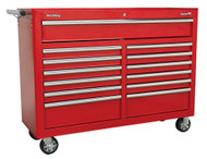 Sealey AP5213T Rollcab 13 Drawer with Ball Bearing Runners - Red